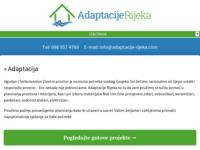 Slika naslovnice sjedišta: Adaptacija u Rijeci. (http://www.adaptacije-rijeka.com/)
