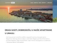 Frontpage screenshot for site: Apartmani Maric, privatni smještaj, Umag, Istra, Hrvatska (http://www.apartmentsmaricumag.com)