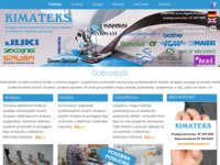 Slika naslovnice sjedišta: Kimateks d.o.o. (http://www.kimateks.hr)