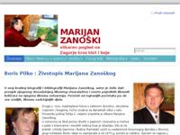 Frontpage screenshot for site: Marijan Zanoški (http://marijan-zanoski.iz.hr)