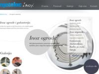 Frontpage screenshot for site: METALAC INOX - Inox ograde (http://metalac-inox.hr/)
