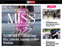 Frontpage screenshot for site: ZNET.hr (http://www.znet.hr)