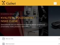 Slika naslovnice sjedišta: Galmet d.o.o. (http://www.galmet.hr)