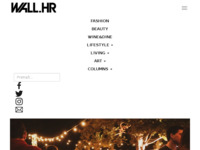 Frontpage screenshot for site: Wall.hr (http://wall.hr)
