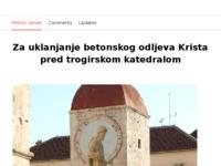 Frontpage screenshot for site: Peticija za uklanjanje betonskog odljeva Krista pred trogirskom katedralom (http://www.change.org/petitions/graani-hrvatske-za-uklanjanje-betonskog-odljeva-krista-pred-trogirskom-katedralom)