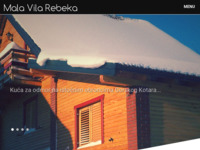 Frontpage screenshot for site: Kuća za odmor (wellness)Mala vila Rebeka (http://www.malavilarebeka.com)