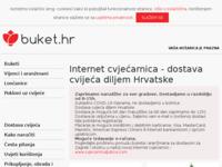 Slika naslovnice sjedišta: buket.hr - internet cvjećarnica (http://www.buket.hr)