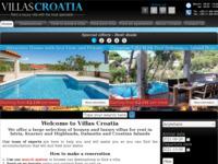 Frontpage screenshot for site: Ville u Hrvatskoj (http://www.villascroatia.net)