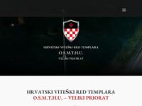 Frontpage screenshot for site: Hrvatski Viteški Red Templara O.S.M.T.H. - Suvereni priorat (http://www.vitezovi-templari.hr)