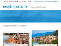 Frontpage screenshot for site: Apartmani u Hrvatskoj (http://www.mojsmjestaj.hr)