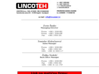 Frontpage screenshot for site: Lincoteh (http://lincoteh.hr)
