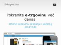 Frontpage screenshot for site: E-trgovina.com.hr (http://e-trgovina.com.hr)