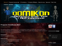Slika naslovnice sjedišta: Domikon - Hrvatska Star Trek i NLO konvencija (http://domikon.kmdm.hr)