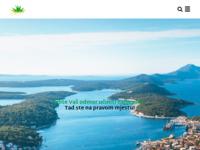 "Frontpage screenshot for site: ""Agave travel"" turistička agencija Mali Lošinj, Hrvatska. (http://www.agavetravel.hr)"
