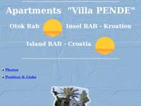 Frontpage screenshot for site: Apartman Pende, otok Rab (http://www.mediacomp.hr)
