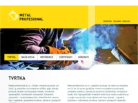 Frontpage screenshot for site: Metal Profesional (http://www.metalprofesional.hr)
