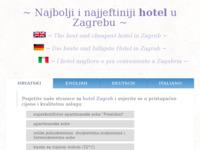 Frontpage screenshot for site: Hotel Zagreb (http://www.hotel-zagreb.eur.hr)