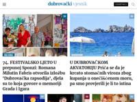 Frontpage screenshot for site: Dubrovački vjesnik (http://www.dubrovacki.hr)