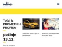 Slika naslovnice sjedišta: Autoškola Dalmacija - Šibenik (http://www.autoskola-dalmacija.hr)