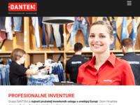 Frontpage screenshot for site: DANTEM - profesionalne inventure (http://www.dantem.hr)