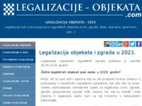 Frontpage screenshot for site: Legalizacije objekata (http://legalizacije-objekata.com)