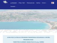 Frontpage screenshot for site: Turistička zajednica grada Paga (http://www.tzgpag.hr)