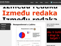 Frontpage screenshot for site: Između Redaka (http://izmedjuredaka.wordpress.com/)