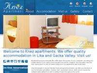 Frontpage screenshot for site: Knez Apartmani Gacka (http://www.apartmani-knez.hr)