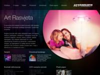 Slika naslovnice sjedišta: Rasvjeta i centar rasvjetnih tijela (http://www.art-rasvjeta.com)