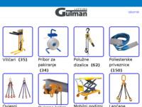 Frontpage screenshot for site: Dizalica – Sredstva za podizanje i vezivanje tereta (http://dizalica.hr)