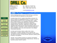 Frontpage screenshot for site: Drill Co. d.o.o. - Zagreb, Croatia (http://www.drill-co.com)
