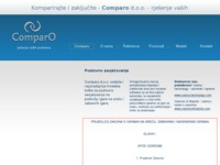 Frontpage screenshot for site: Comparo d.o.o. (http://www.comparo.hr)