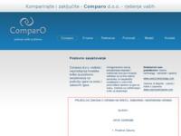 Slika naslovnice sjedišta: Comparo d.o.o. (http://www.comparo.hr)