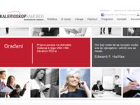 Frontpage screenshot for site: (http://www.kaleidoskop.hr)