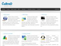 Frontpage screenshot for site: ČuBraD uslužni obrt (http://www.cubrad.com)