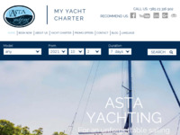 Frontpage screenshot for site: Asta Yachting Zadar, Croatian yacht charter (http://www.asta-yachting.hr)