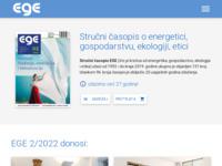 Slika naslovnice sjedišta: časopis EGE - energetika, gospodarstvo, ekologija, etika (http://www.ege.hr)