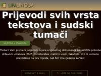 Frontpage screenshot for site: Lipa Lingua d.o.o. (http://www.lipa-lingua.hr)