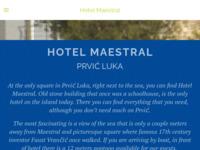 Frontpage screenshot for site: Hotel Maestral, Prvić Luka (http://www.hotelmaestral.com/)