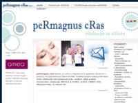 Frontpage screenshot for site: peRmagnus cRas (http://www.permagnus-cras.com)