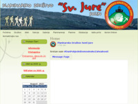 Frontpage screenshot for site: Planinarsko društvo Sveti Jure – Solin (http://www.pd-svjure.hr/)