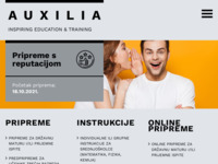 Slika naslovnice sjedišta: Auxilia - centar za poduku (http://www.auxilia.hr/)