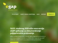 Frontpage screenshot for site: eGAP (http://www.egap.hr/)