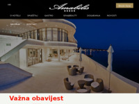Frontpage screenshot for site: Luxury Hotel Amabilis, Selce (http://www.hotelamabilis.com)