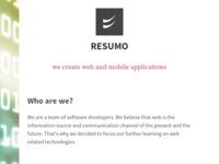 Slika naslovnice sjedišta: Resumo :: Outsourcing (http://www.resumo.hr)
