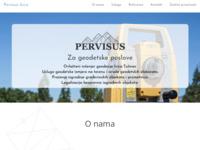 Slika naslovnice sjedišta: Pervisus d.o.o. za geodetske poslove (http://www.pervisus.hr)