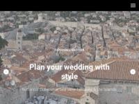Frontpage screenshot for site: Vjencanja u Dubrovniku (http://doyouwed.me)