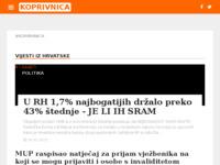 Slika naslovnice sjedišta: Internet portal - Grad koprivnica (http://grad-koprivnica.net/)