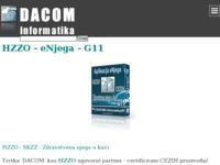 Frontpage screenshot for site: Dacom informatika (http://www.dacom.hr)