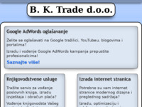 Frontpage screenshot for site: (http://www.bktrade.hr)